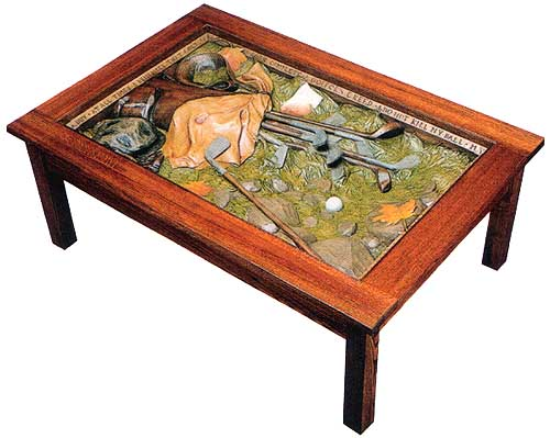 Big sky carvers furniture for Golf coffee table